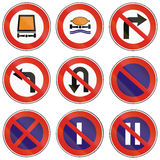 Road signs used in Slovakia Stock Image