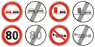 Road signs used in Slovakia Stock Photo