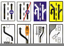 Road signs used in Slovakia Royalty Free Stock Photography