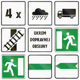 Road signs used in Slovakia Stock Images