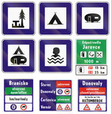 Road signs used in Slovakia Royalty Free Stock Images