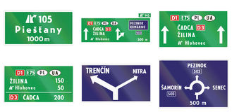 Road signs used in Slovakia Royalty Free Stock Image