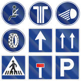 Road signs used in Spain Royalty Free Stock Photography