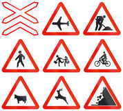 Road signs used in Spain Stock Image