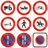 Road signs used in Spain Royalty Free Stock Image
