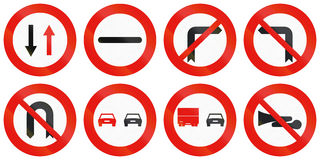 Road signs used in Spain Stock Photos