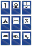 Road signs used in Spain. Collection of road signs used in Spain Royalty Free Stock Photo