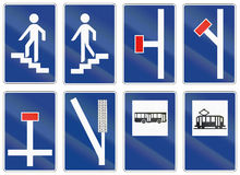 Road signs used in Spain Stock Images