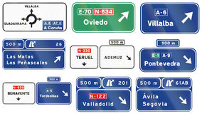 Road signs used in Spain Stock Photography