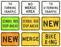 Road signs used in the US state of Delaware Stock Photo