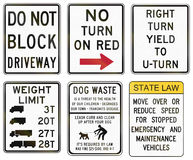 Road signs used in the US state of Delaware Royalty Free Stock Photography