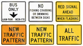 Road signs used in the US state of Delaware Royalty Free Stock Image