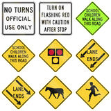 Road signs used in the US state of Delaware Royalty Free Stock Photo