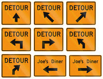 Road signs used in the US state of Virginia Royalty Free Stock Photo
