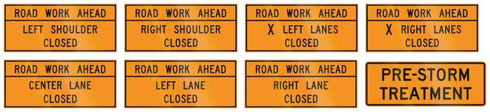 Road signs used in the US state of Virginia Royalty Free Stock Images