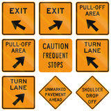 Road signs used in the US state of Virginia Royalty Free Stock Photography