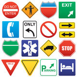 Road signs. Vector illustration of road signs Royalty Free Stock Photography