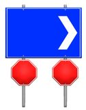 Road signs vector Royalty Free Stock Image