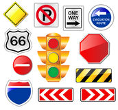 Road Signs. Vector Set of Road Signs Royalty Free Stock Images