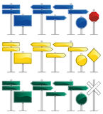 Road Signs. Vector set of road signs with blank frames Royalty Free Stock Image