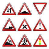 Road signs. On a white background Stock Image