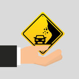 Road sing caution icon Stock Images
