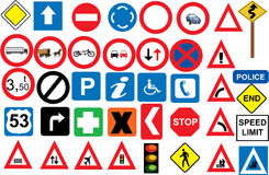 Road sings. Road signs in vector format Royalty Free Illustration