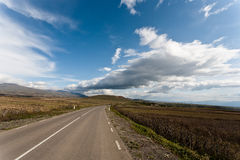 Road with sky. Stock Photos