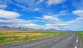 Road sky Stock Images