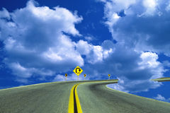 Road in the sky Royalty Free Stock Photos