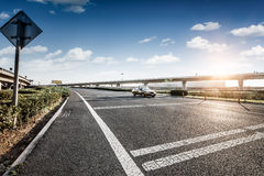 Road and sky in airport Royalty Free Stock Photography