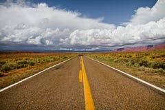 Road and sky of Arizona Royalty Free Stock Photos