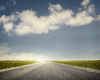 Road and sky background Royalty Free Stock Photos