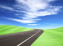 Road and Sky Stock Photography
