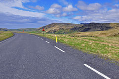 Road and sky. Road, mountains and sky, Iceland Royalty Free Stock Images