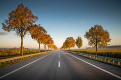 Road, Sky, Nature, Highway Royalty Free Stock Images