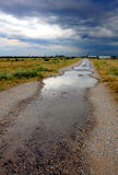 Road and sky after rain. Road and sky after evening rain Royalty Free Stock Photo