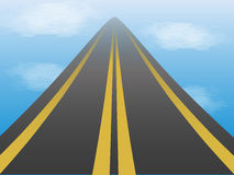 Road in the sky. Road stretches into the sky Royalty Free Stock Photography