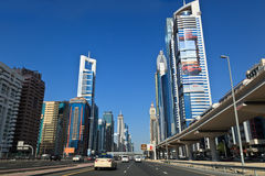 Road and skyscrapers in Dubai Stock Image
