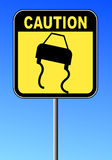 Road slippery sign Stock Photography