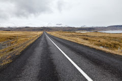 Road at Snaefellsnes peninsula. Royalty Free Stock Images