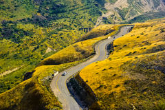 Road snaking through landscape Stock Photography