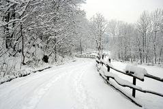 Road in the snow Royalty Free Stock Photos
