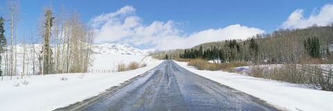 Road through snow Royalty Free Stock Photography
