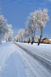 Road in snow Royalty Free Stock Photography