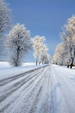 Road in snow Royalty Free Stock Photos
