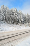 Road is snow-bound Stock Images