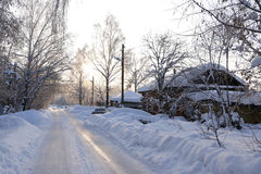 Road in snow Royalty Free Stock Photo
