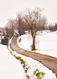 Road in the snow Stock Photos