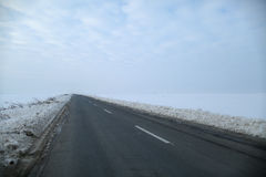Road with snow Royalty Free Stock Image